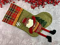 """Новогодний сапог """"Дед  Мороз"""", носок для новогодних декораций"""
