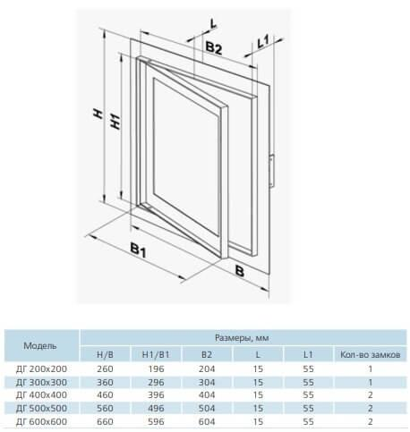razmer dvertsi vents DG 400*400