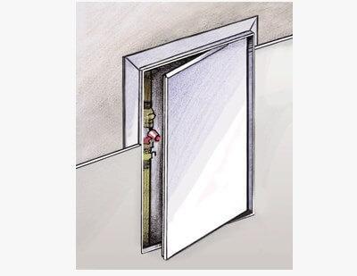 montaj dvertsi vents dg 400*400