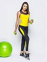 Женский  эластичный спортивный  костюм для тренажерного зала