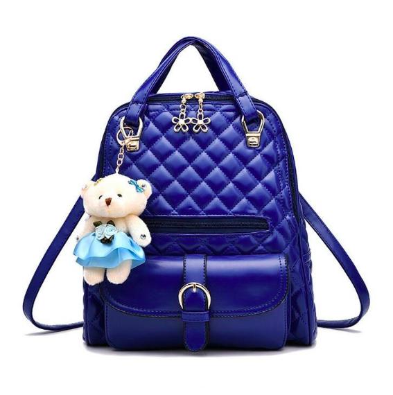 Рюкзак женский кожзам Sweet Bear стеганный сумка Синий