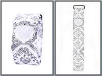 Часы электронные бумажные светодиодные Paper Watch Узор ремешок на магните (материал Тайвек), фото 1