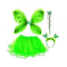 Карнавальный костюм Волшебная бабочка (салатовый)