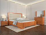 Кровать дерево Амбер двуспальная 160 (Арбор) с подъемным механизмом , фото 4