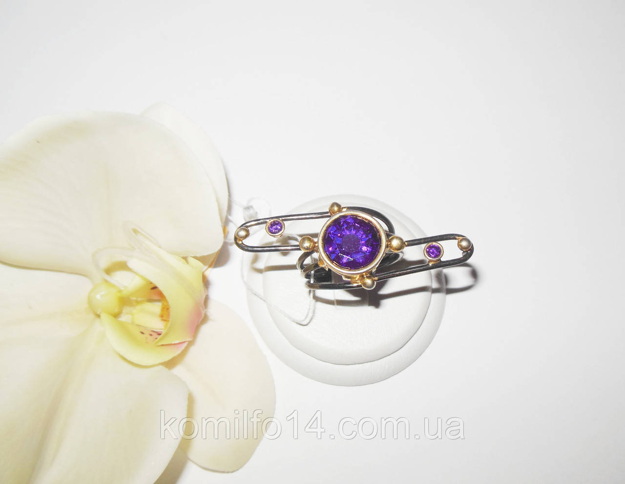 Авторское серебряное кольцо с куб.цирконием