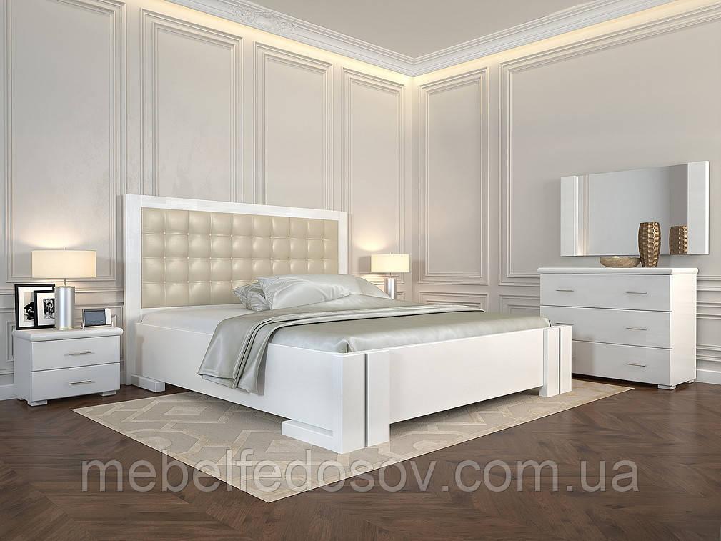 Кровать дерево Амбер двуспальная 160 (Арбор) с подъемным механизмом