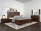 Кровать дерево Амбер двуспальная 160 (Арбор) с подъемным механизмом , фото 2