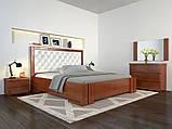 Кровать дерево Амбер двуспальная 160 (Арбор) с подъемным механизмом , фото 7