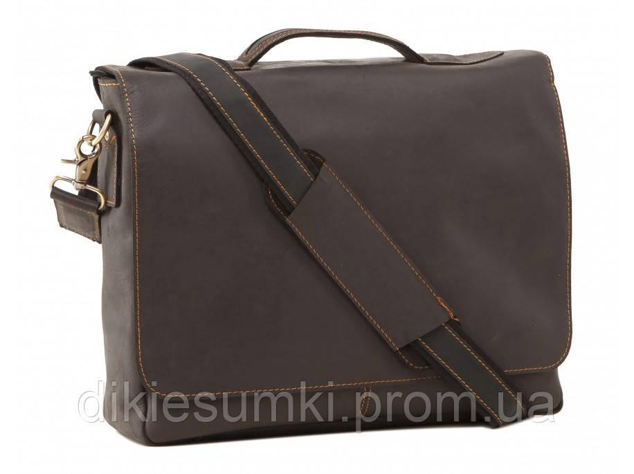 1835ed3e8b7e Портфель мужской кожаный коричневого цвета TIDING BAG 7108A-1 лошадиная  кожа - Интернет магазин -