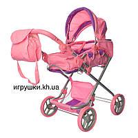 Коляска для кукол Melogo 9333 большая, розово фиолетовая