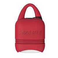 Чехол для беспроводных наушников Apple AirPods I-smile (Red), фото 1