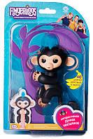 Смарт игрушка Интерактивная обезьянка Fingerlings Boris Black