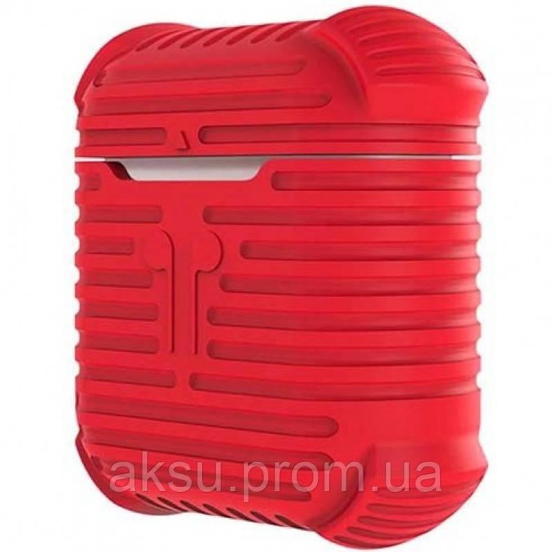 Чехол для беспроводных наушников Apple AirPods Protective Case (Red)