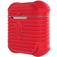 Чехол для беспроводных наушников Apple AirPods Protective Case (Red), фото 1