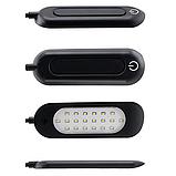 Портативний 20 LED світильник на SMD діодах чорний, фото 6