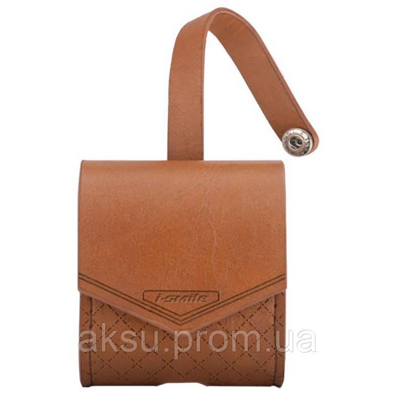 Чехол для беспроводных наушников Apple AirPods Smooth Leather Case (Brown)