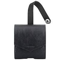 Чехол для беспроводных наушников Apple AirPods Smooth Leather Case (Black), фото 1