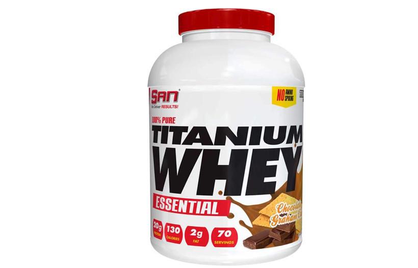 Протеин SAN 100% Pure Titanium Whey ESSENTIAL  2.2 kg. (ВАНИЛЬ)
