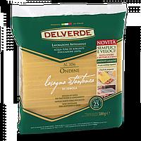 Лазанья листы рефлёные на желтках Delverde «Lasagna Istantanea», 500 гр., фото 1