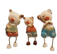 Набір з 3 фігурок на полицю Сім'я свинок CF-01