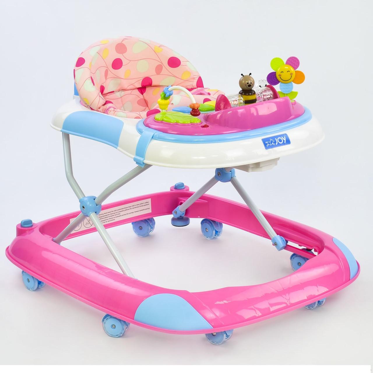 Детские ходунки JOY W 1121 PB 8 розовый