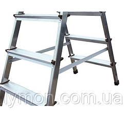 Стрем'янка алюмінієва двостороння DRABEST 7 ступенів, фото 3