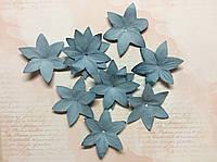 Цветок плоский бумажный голубой 50мм 18шт, фото 1