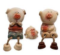 Набір з 3 фігурок на полицю Сім'я свинок CF-02