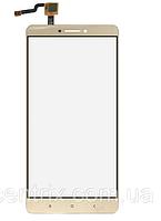 Тачскрин (сенсор) для Xiaomi Mi Max, золотистый