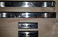 Хром накладки на внутренние пороги надпись гравировкой для Ford Kuga 2012+