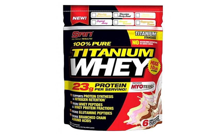 Протеин SAN 100% Pure Titanium Whey 2.2 kg. (ВАНИЛЬ)