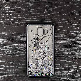 Жіночий чохол для Samsung Galaxy J4 2018 J400F силіконовий з блискітками Beckberg Aqua Series, Фея