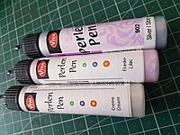 Высококачественный контур серебро светл. Вива (Германия)с тонким носиком Viva Perlen Pen, 28 мл, фото 1