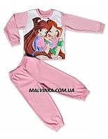 """Пижама для девочки """"Флора"""" 86,92,98 р интерлок."""
