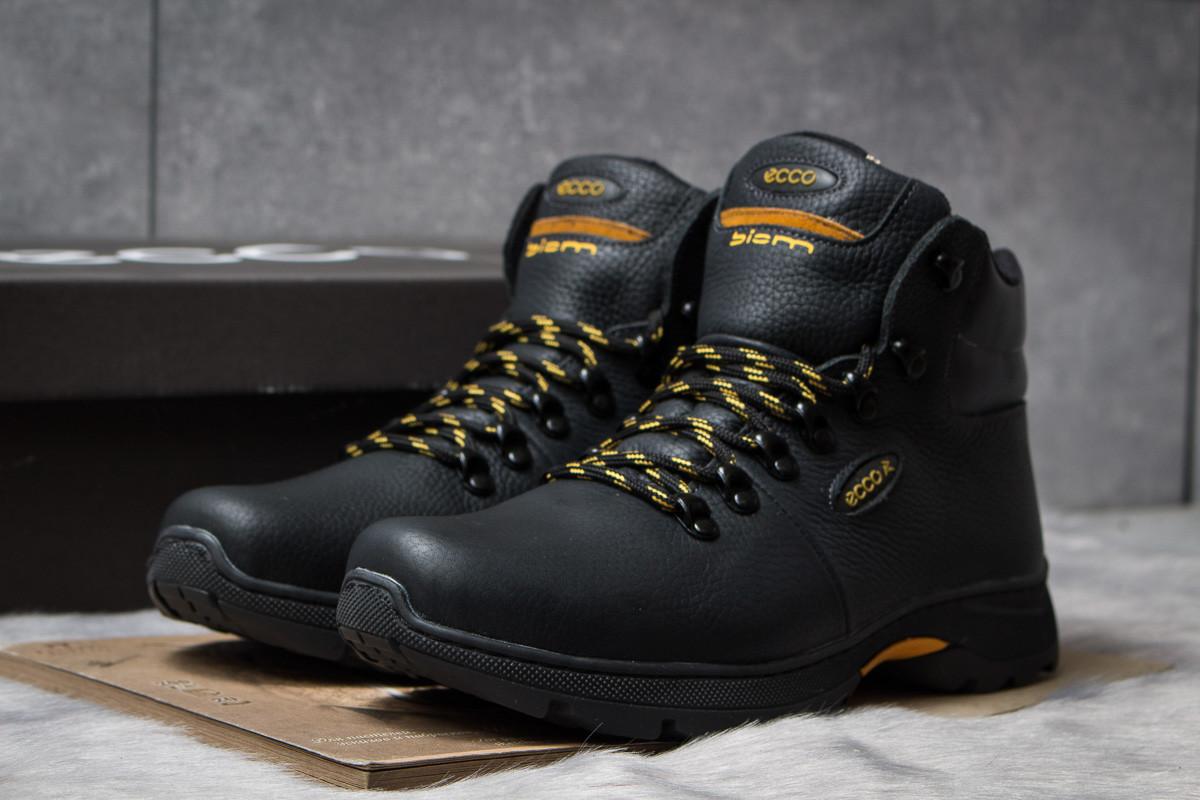 Зимние кроссовки на меху Ecco Biom, черные (30682),  [  41 45  ]