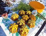 """Новогодняя восковая свеча """"Снежинка #1"""" из натурального пчелиного воска, фото 7"""
