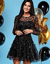 Женское расклешенное платье из сетки (Шармjd), фото 3