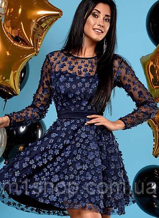 Женское расклешенное платье из сетки (Шармjd), фото 2