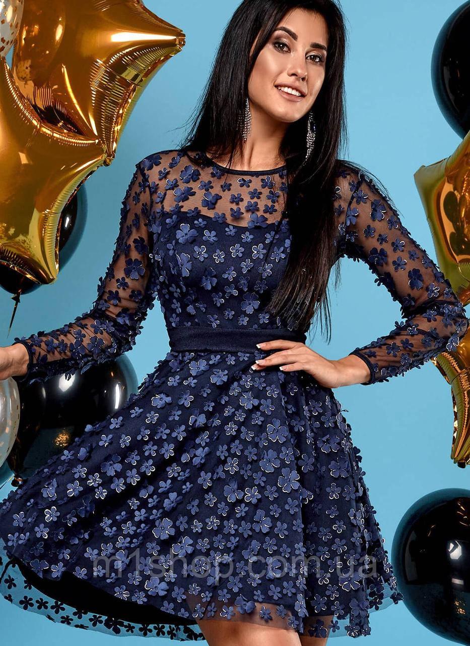 Женское расклешенное платье из сетки (Шарм jd)