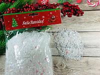 Искусственный снег в пакетике - рассыпчатый снег 100 гр , набор 6шт