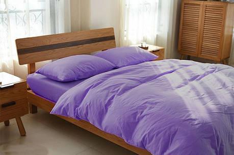 Постельное белье из льна Сиреневый №527 ТМ Комфорт-текстиль (Евро), фото 2