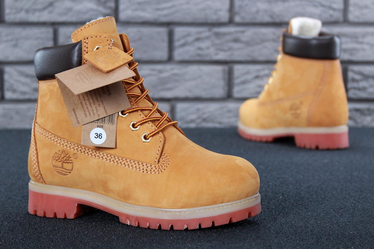 Женские зимние ботинки Timberland с натуральным мехом (37, 38, 39, 40, 8ef318a2925