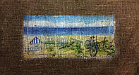 Основа для вышивки и декора Декупаж по текстилю Море 001, 51*29см