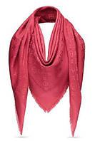 "Женский платок с люрексом Louis Vuitton  Monogram ""Dark red""  (в стиле Луи Витон)"