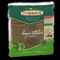 Лазанья листы рефлёные со шпинатом Delverde «Lasagna Istantanea», 500 гр., фото 1