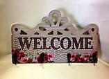 Интерьерная табличка, Welcome, Прованс, 4 крючка, Декор для дома, Днепропетровск, фото 2