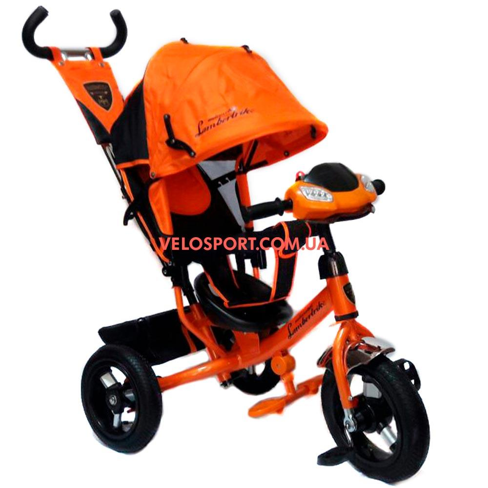 Детский трехколесный велосипед Azimut Lambortrike Light AIR оранжевый