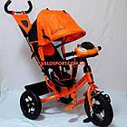 Детский трехколесный велосипед Azimut Lambortrike Light AIR оранжевый, фото 2