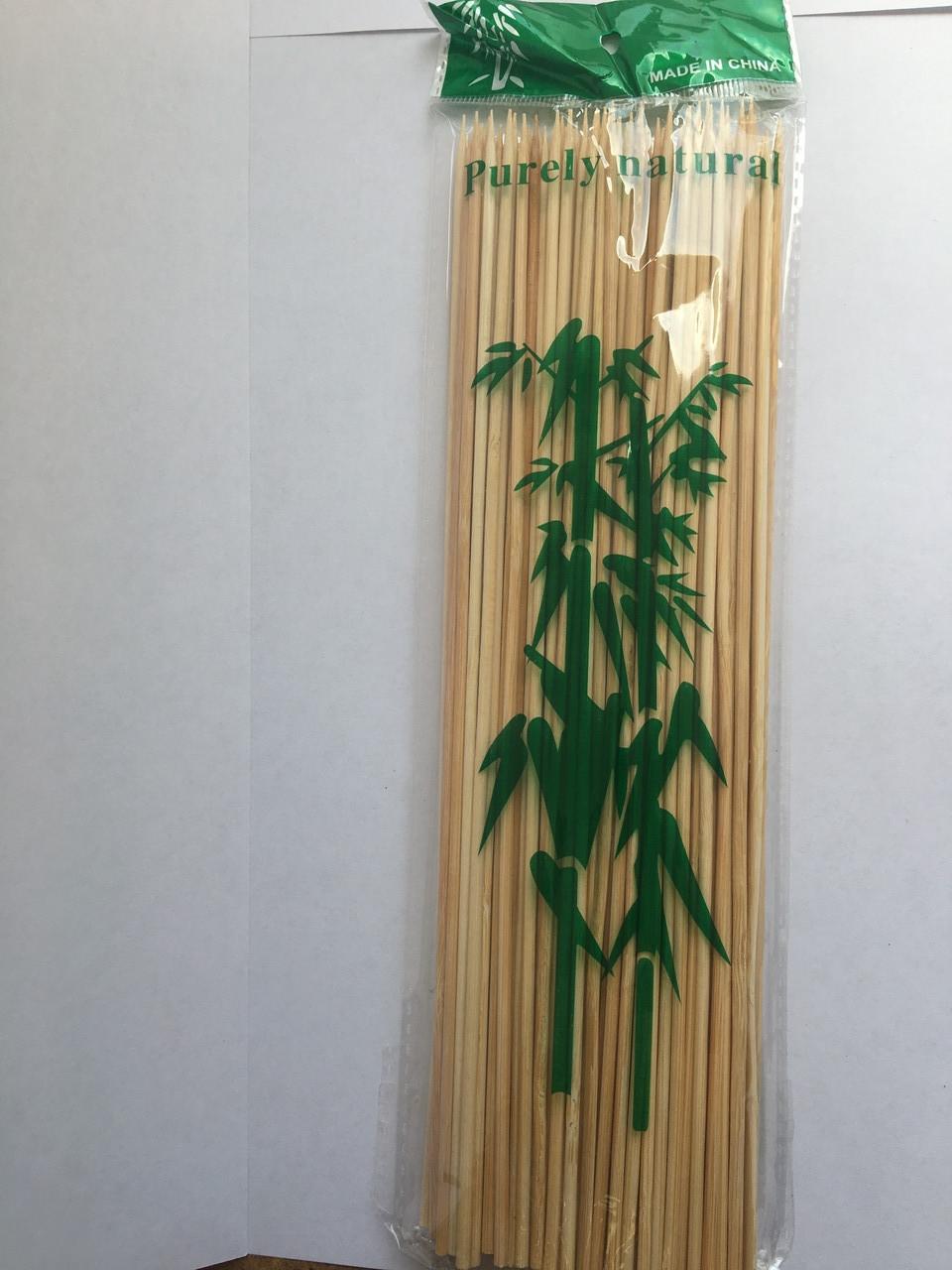 Бамбукові палички для шашлику 20 см 100 шт
