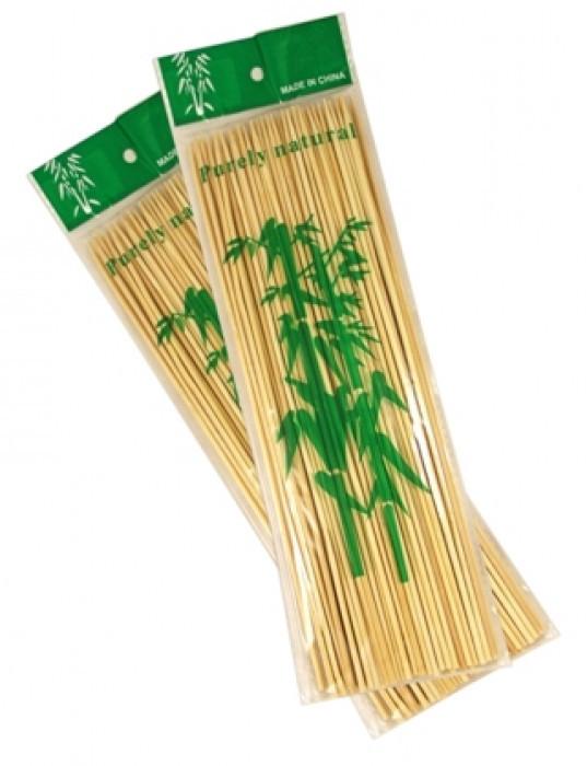 Бамбуковые палочки для шашлыка, 25см/100 шт
